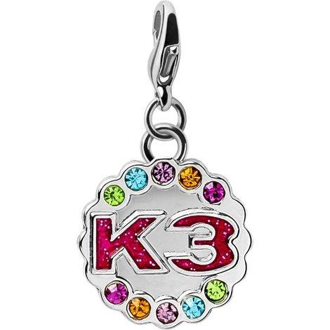 Sleutelhanger metaal K3: rond