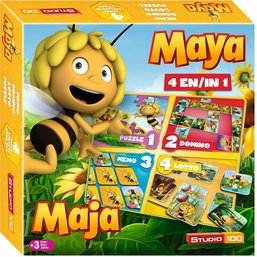 Spel 4 in 1 Maya: o.a. domino en lotto