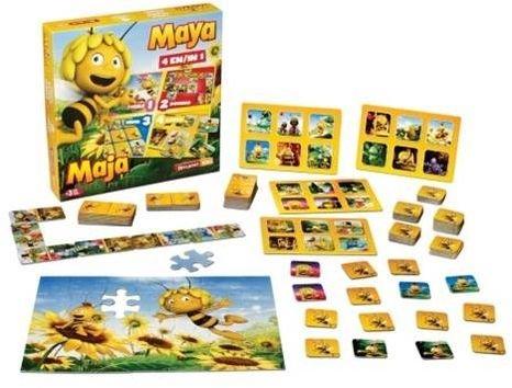 Spel 4 in 1 Maya: o.a. domino en lotto