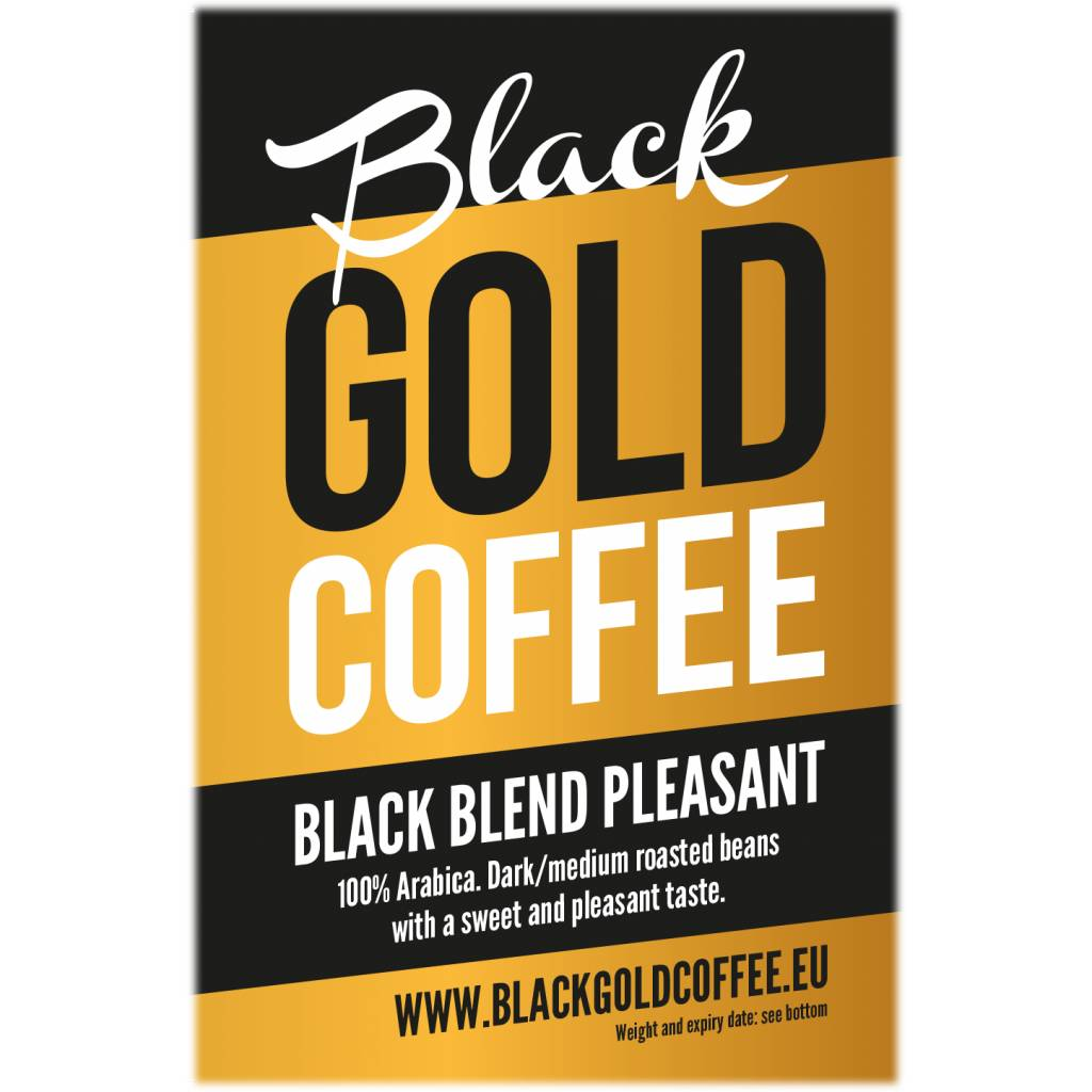 Black Gold Coffee Black Blend Pleasant doos