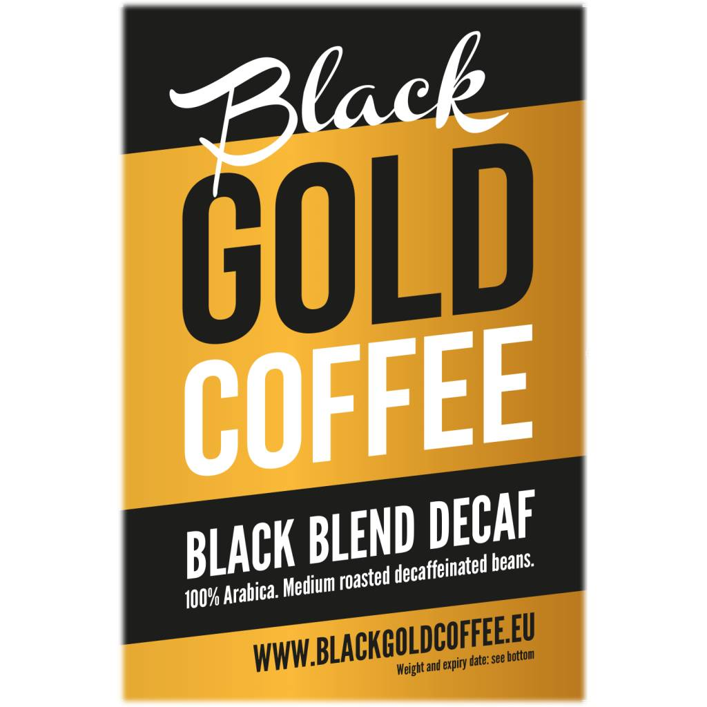 Black Gold Coffee Black Blend Decaf box