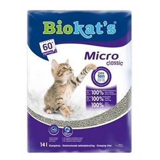 Biokat's Kattenbakgrit Micro classic 14 liter 4 pack