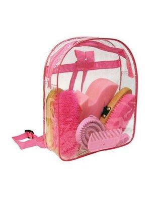 Poetsset met 7 items roze