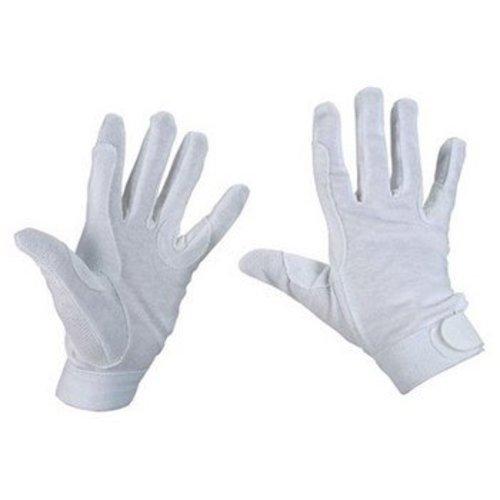 Rijhandschoen wit katoen