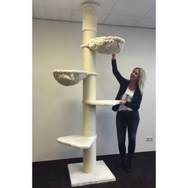 RHRQuality Krabpaal Maine Coon Tower Creme wit