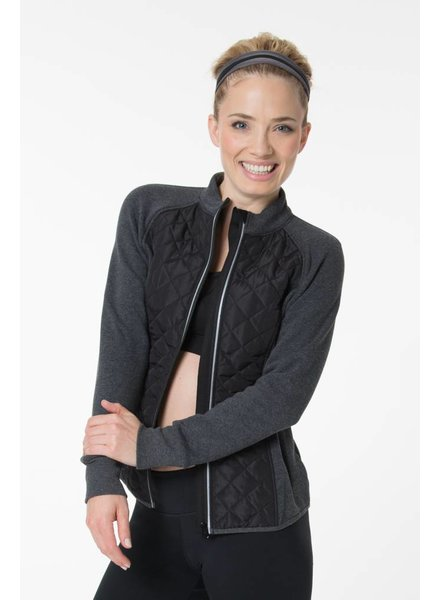 Yvette Zip Sweat Hibiscus Padded