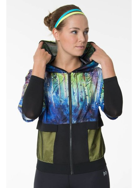 Yvette Zip Hoodie Gravity Light