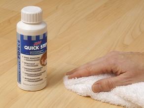 Vlekken verwijderen van laminaat of houten vloeren