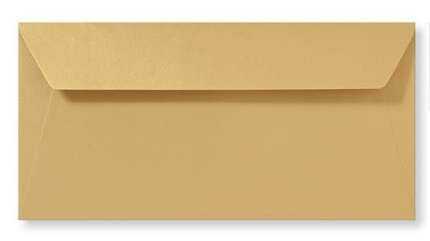 Enveloppe metallic Goud