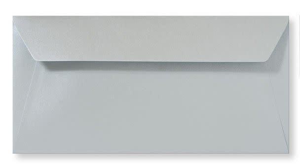 Enveloppe metallic Zilver