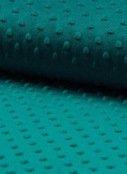 minky fleece appelblauwzeegroen