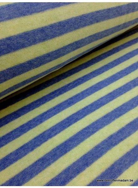 blauwe gestreepte velours