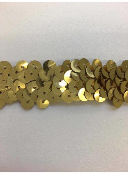 stretch sequin gold 2 cm
