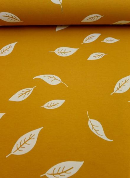 Swafing interlock knit - leaves ochre