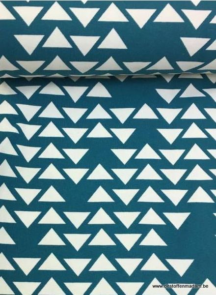 Swafing jersey - triangles turquoise
