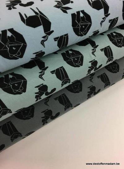 tricot - origami beestjes lichtblauw