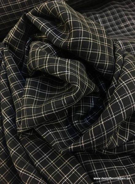 black grid lurex katoen