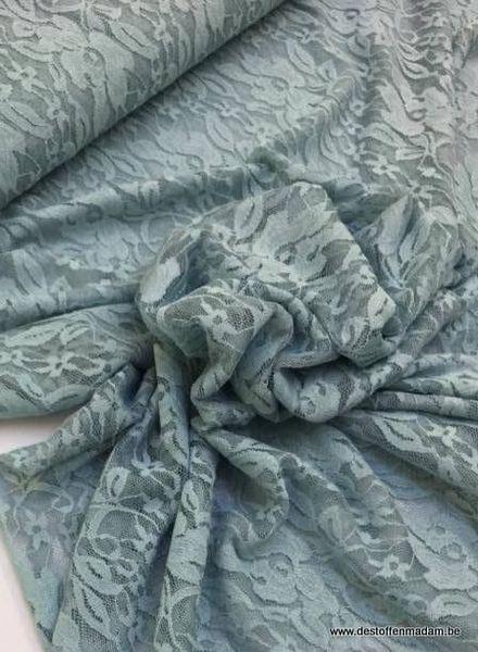 kanten stof - blauw