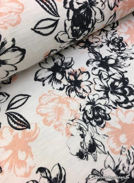 Floral woven jacquard