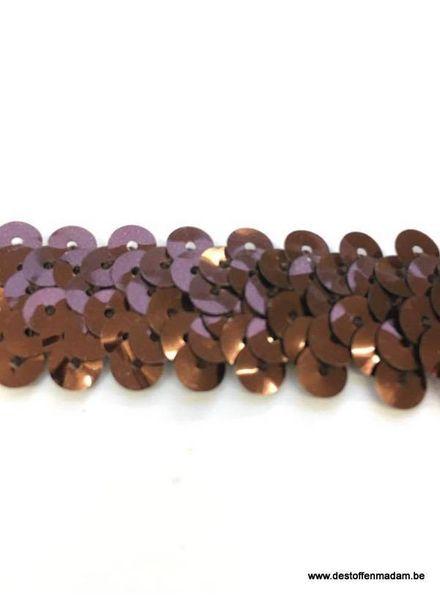 stretch sequin bronze 2 cm