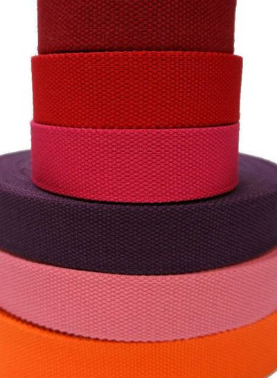 cotton webbing purple