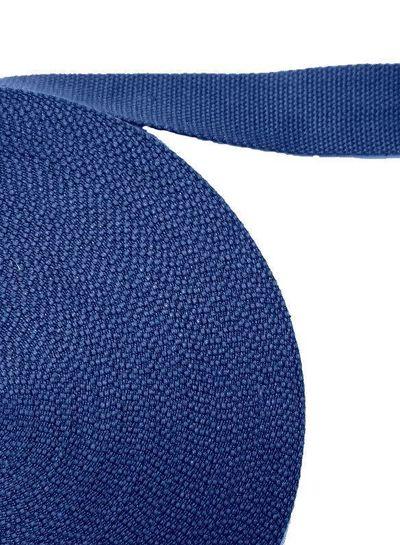 cotton webbing cobalt blue