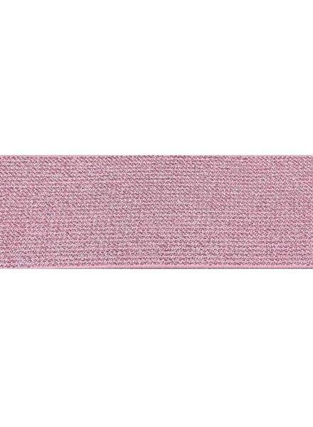 roze 5cm glitter taille elastiek
