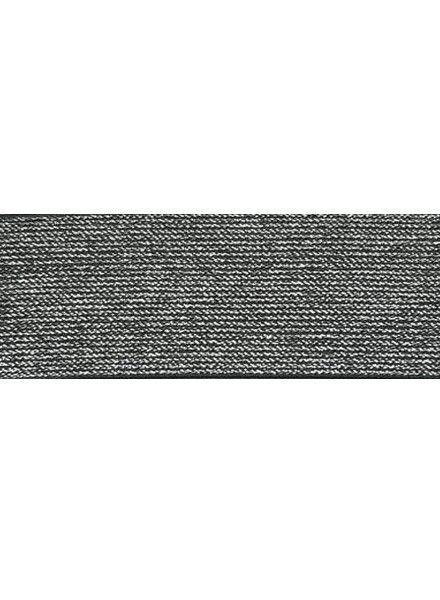 Glitter elastic black