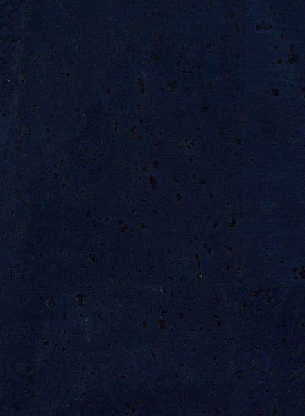 cork leather dark blue