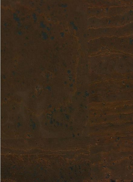 cork leather dark brown