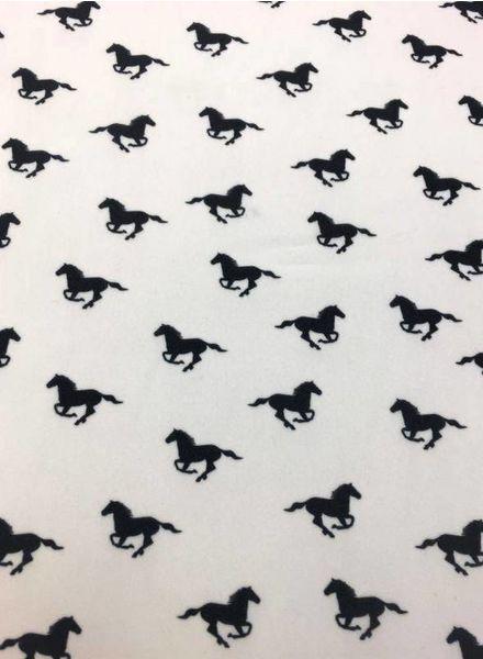viscose crepe met paarden