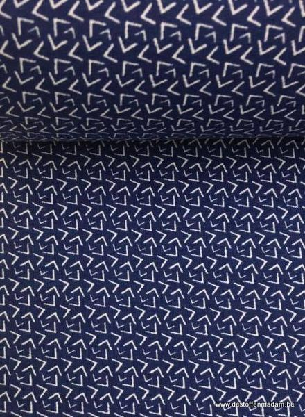 blue geometric french terry
