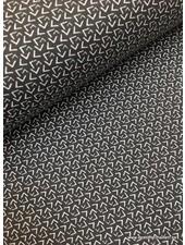 grey geometric french terry