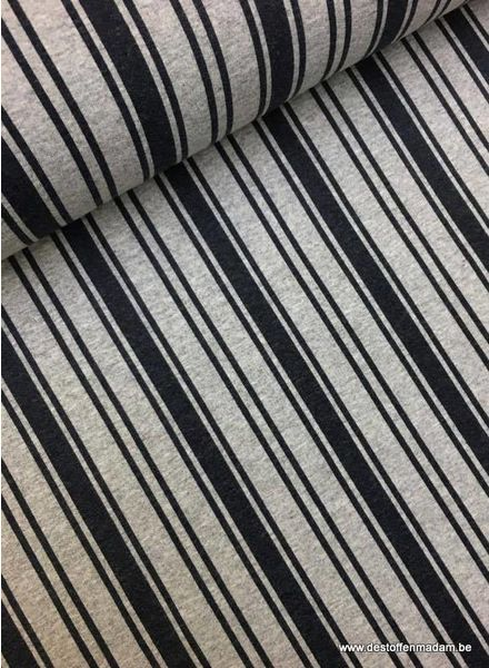 navy vertical stripes french terry