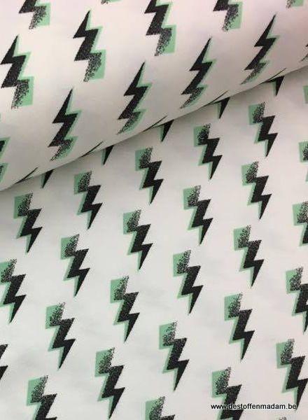 green luminous lightning - knit