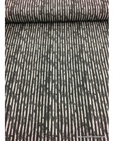 french terry - black vertical striped