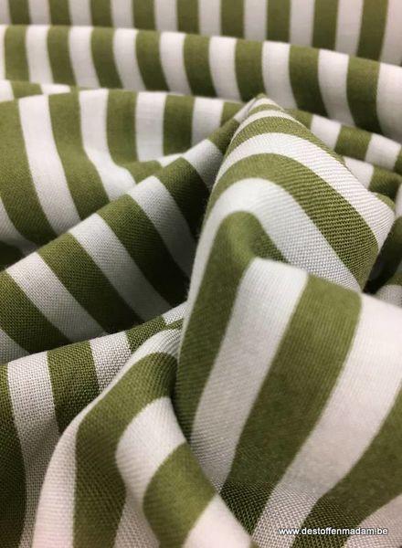 viscose fabric - khaki vertical striped