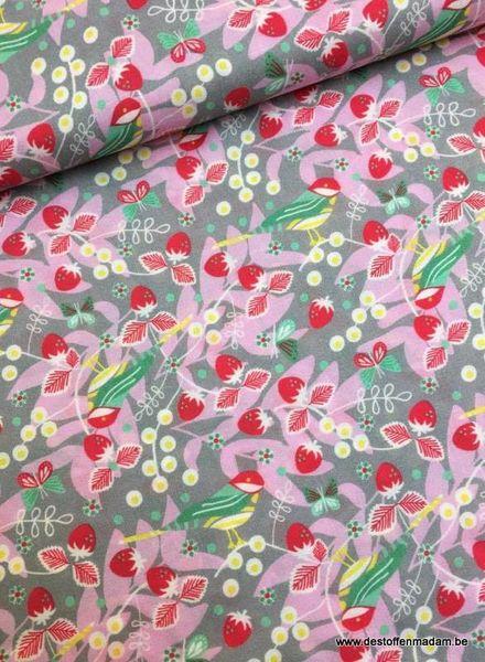 viscose - berrygarden grijs