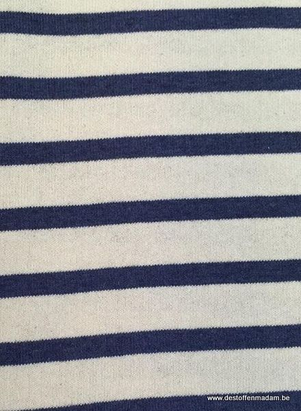 LMV - navy striped french terry