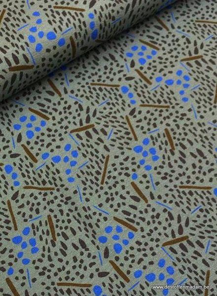 LMV viscose tricot - blue dots