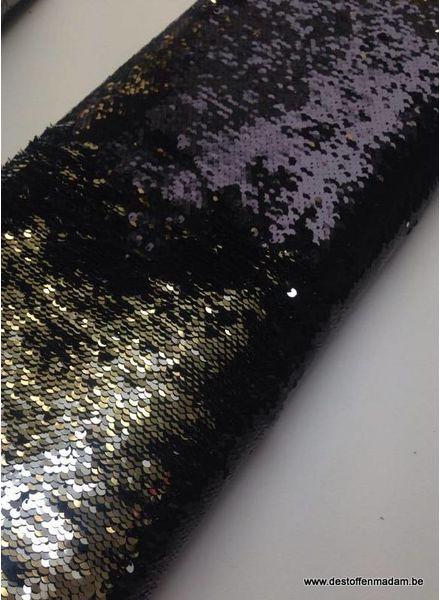 sequins fabric -  zwart/zilver