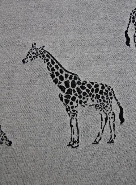gebreide french terry - giraffen grijs