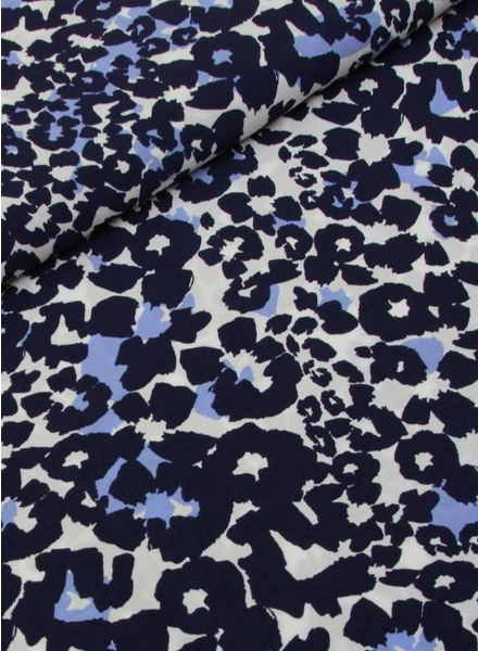 viscose - flowers blue