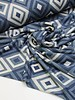 rekbare jacquard - jeans diamonds