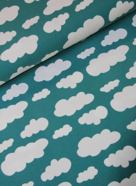 dreamy clouds - apple blue