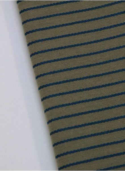 polykatoen - khaki striped