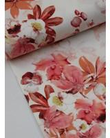 pique cotton - flowers