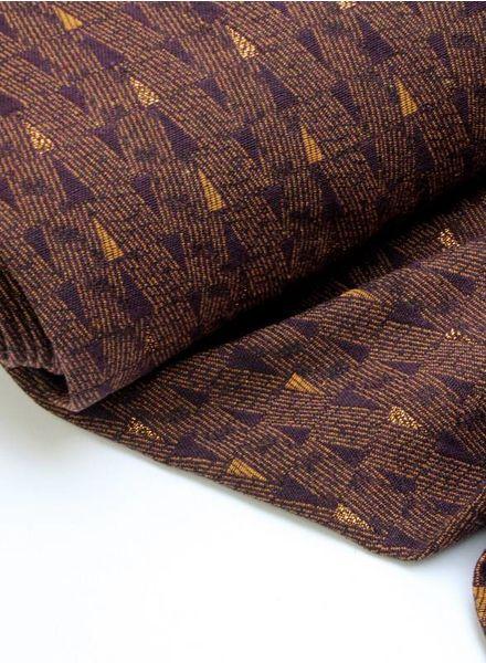 LMV - bronze glitter geweven jacquard