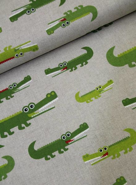 canvas Hilco - green animals