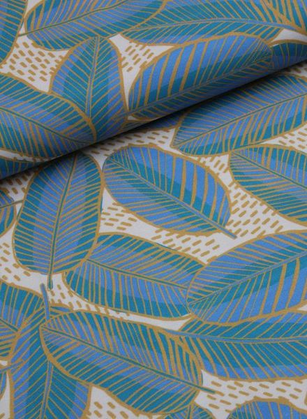 LMV stretch katoen - elegant leaves